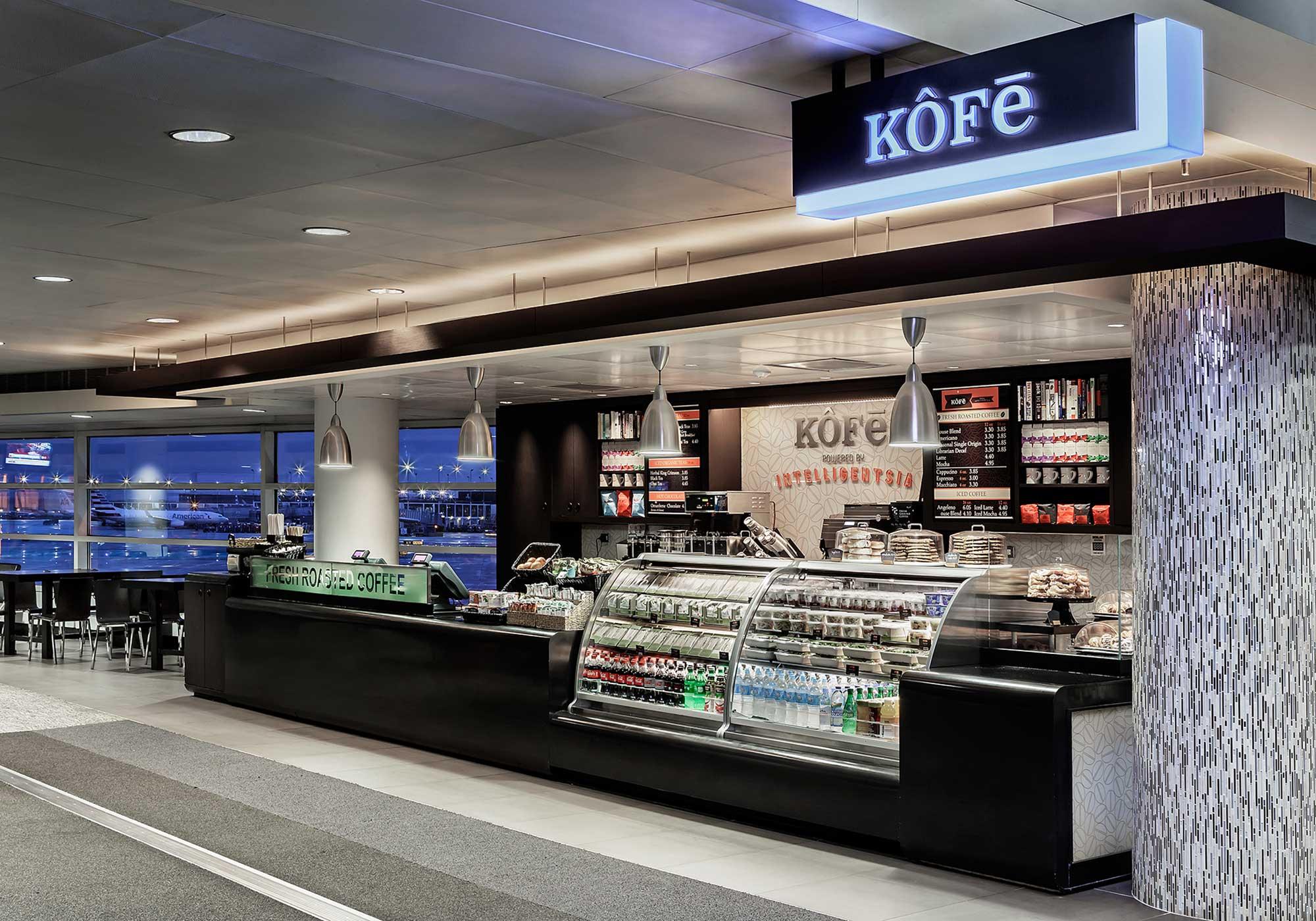 Kofe counter display