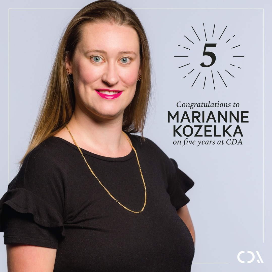 A rare talent, Marianne Kozelka, is essential to our team. Her sense of visuals and design elevates our work for clients and inspires her co-workers. From all of us at Chipman, it is our great pleasure to wish her a wonderful 5th anniversary!