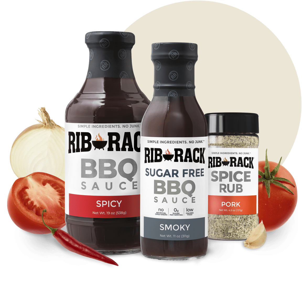 Bottle of Rib Rack Original BBQ Sauce