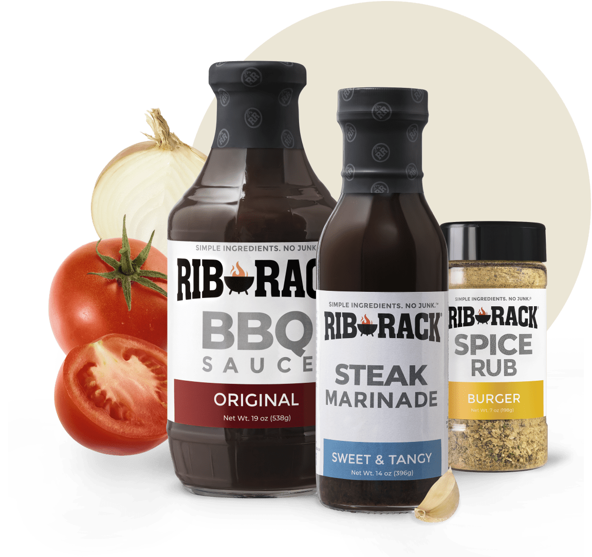 Bottle of Rib Rack Original BBQ Sauce