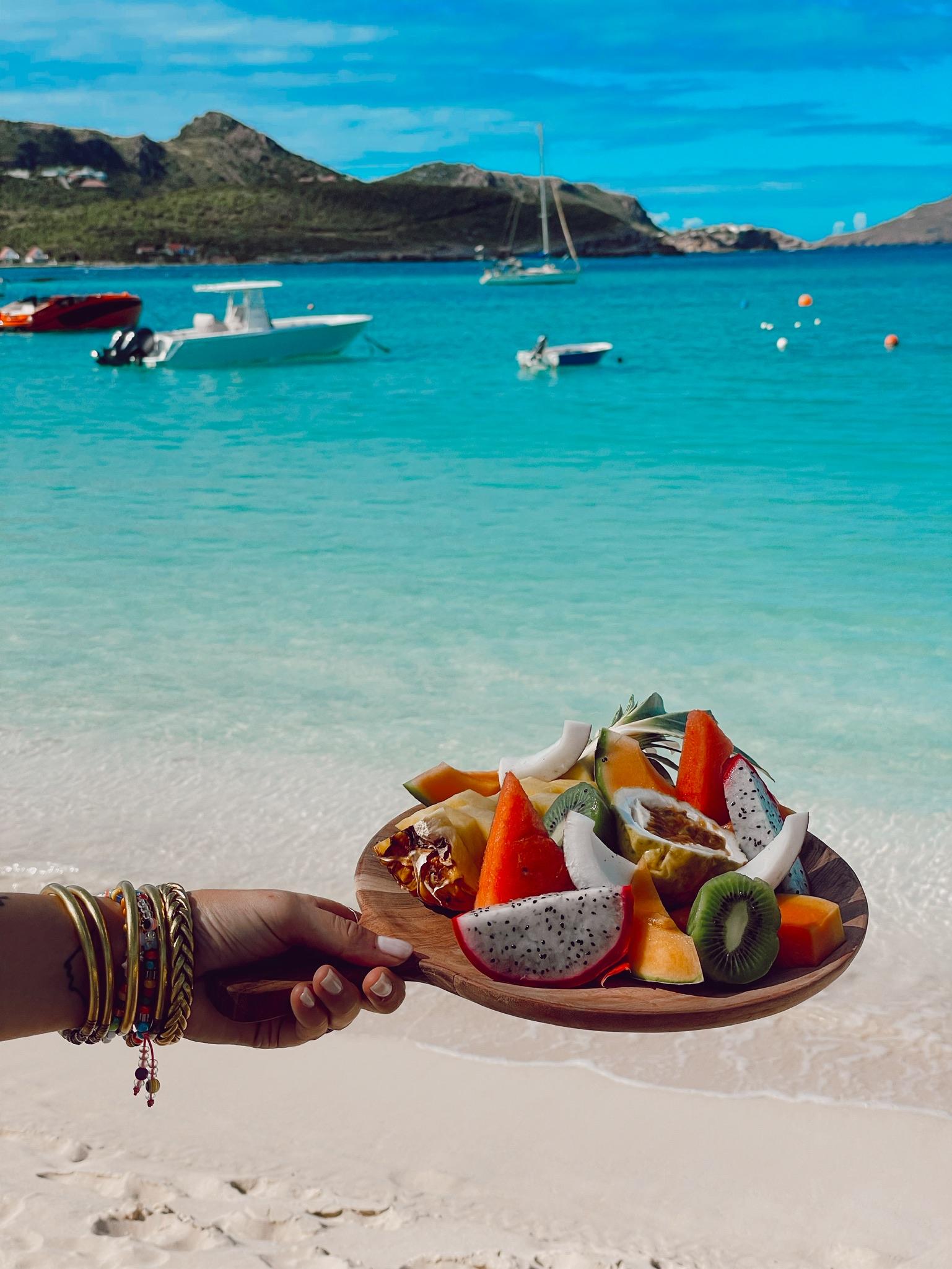 Carribean fruit platter to share