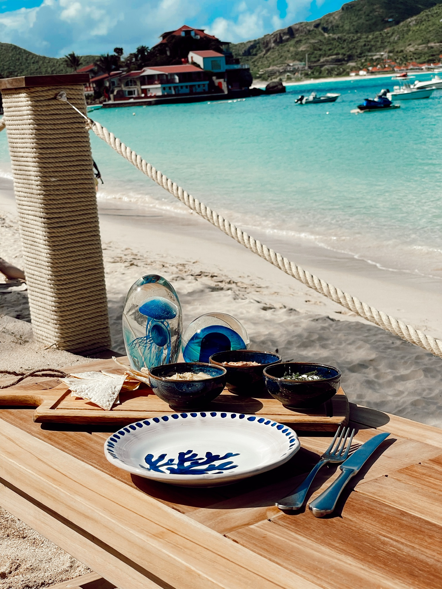 lunch by the sea at saint barth