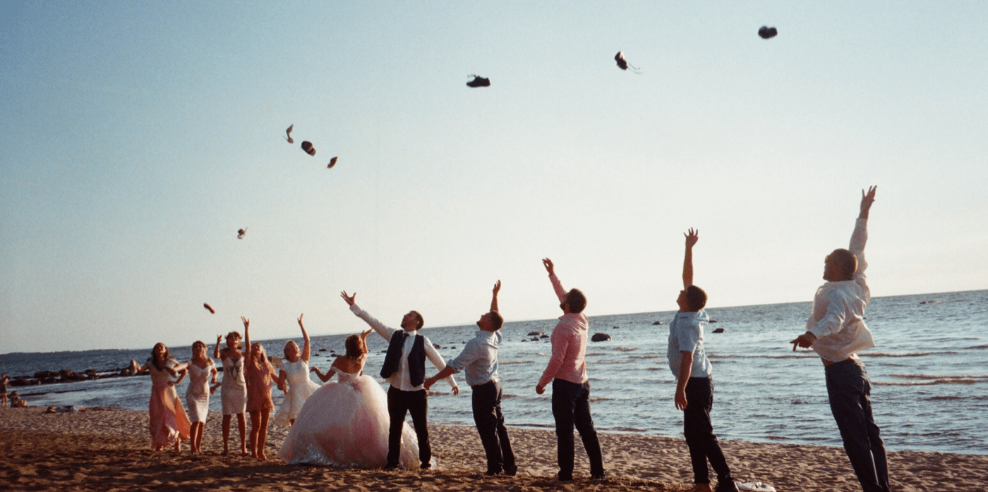 marriage event on the beach