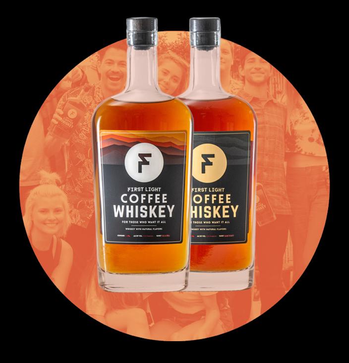 Image of First Light Whiskey bottles