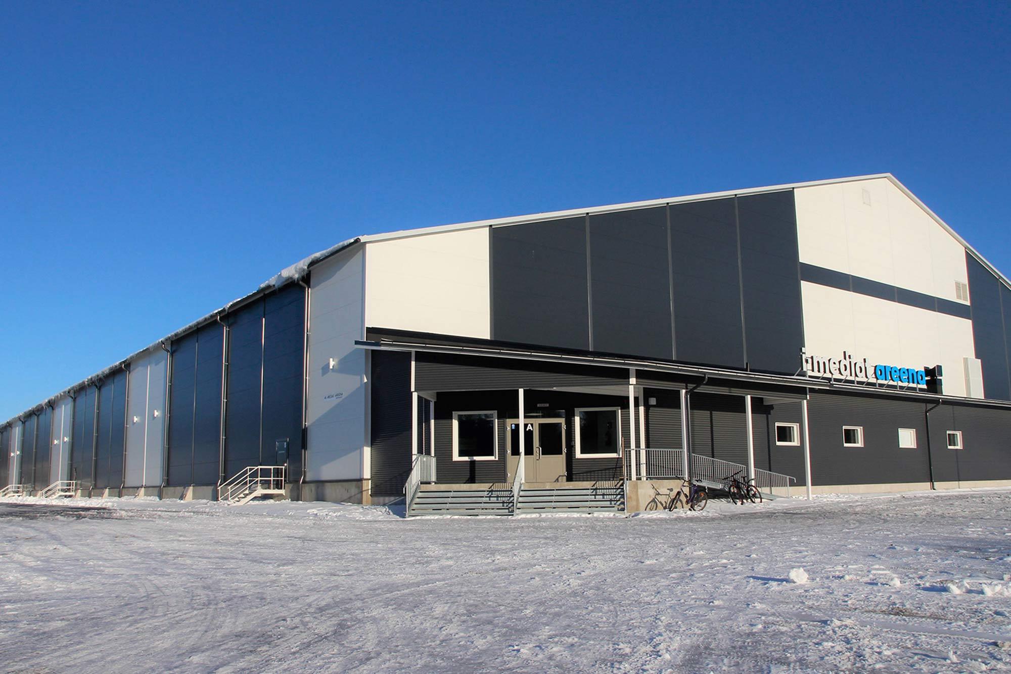 Trutec Oy Referenssit Teräshalli, Urheilurakentaminen, Toimitilahalli, Julkisivurakentaminen