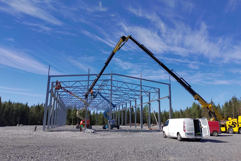 Trutec Oy toteuttaa Lakeuden Harjateräs Oy:lle uuden n. 2000m2:n tuotantohallin Seinäjoen Teräsmäkeen.