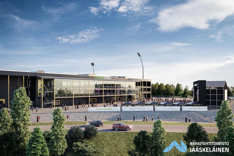 Stadionin sisäpihalle rakennetaan tapahtuma-areena, jonka kapasiteetti on n. 7 000 ihmistä.