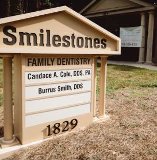 Photo of the Smilestones business sign