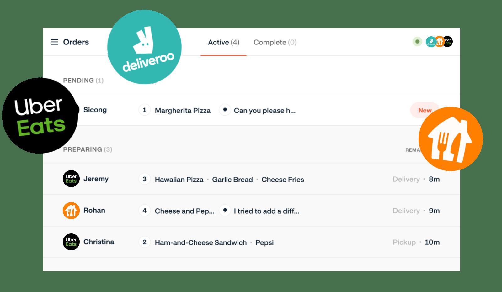 gestión de pedidos de delivery o entrega a domicilio para tu restaurante