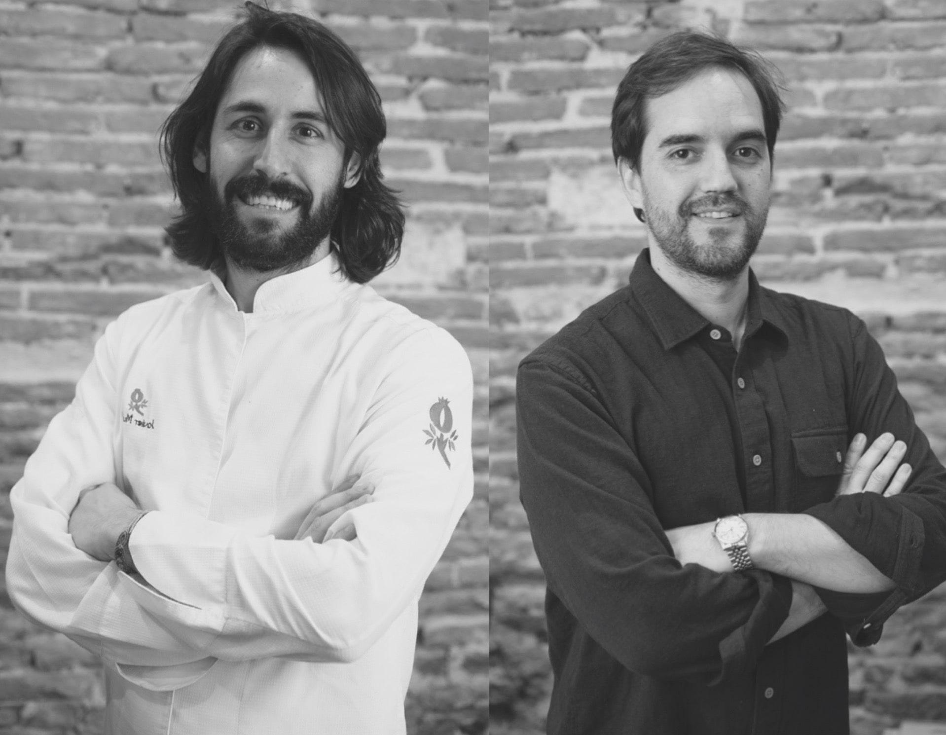 Los fundadores de la cocina fantasma FOODIOOM en Madrid: Javier Muñoz y Ernesto Barrón