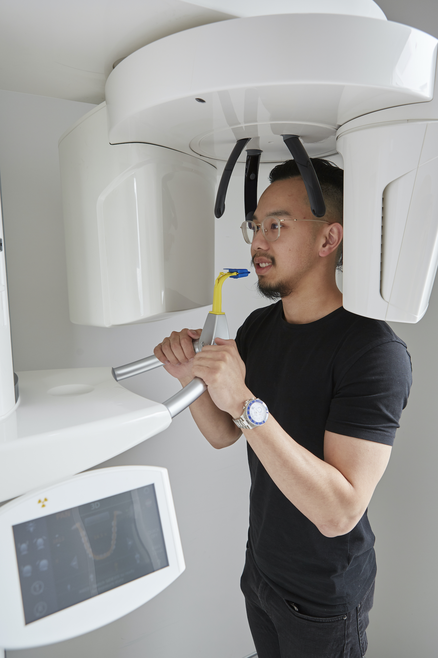 Patient getting an xray