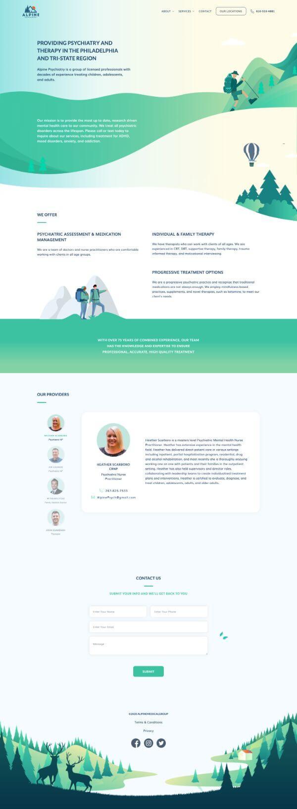 Alpine Psychiatry Website Screenshot