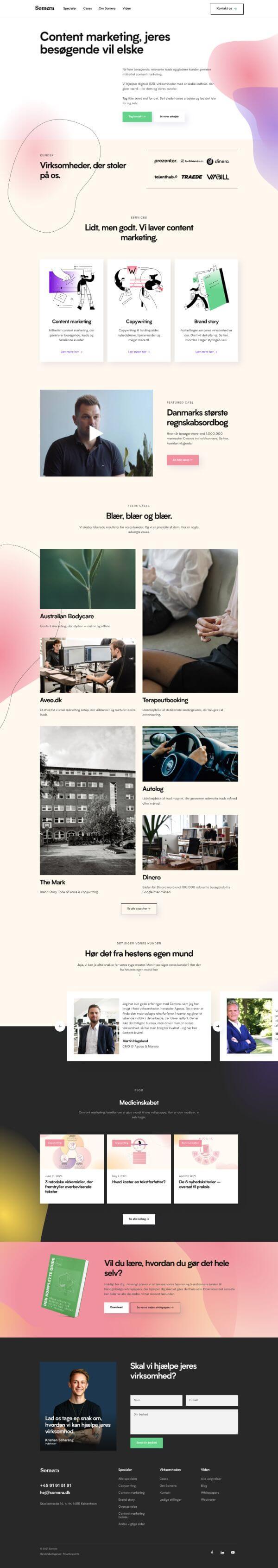Somera Website Screenshot