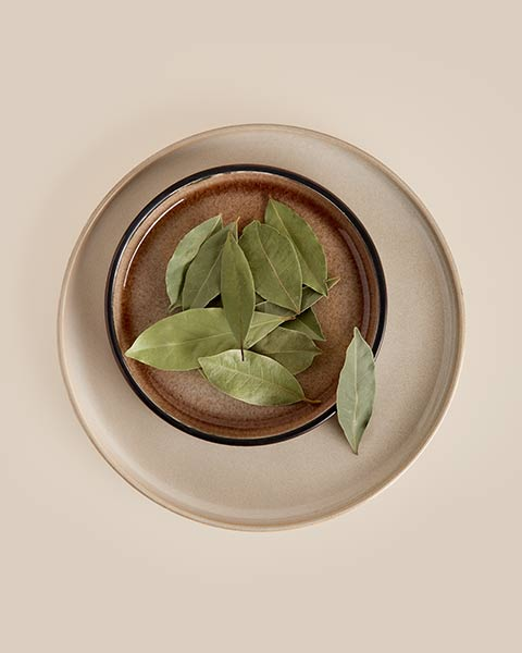 Bay leaves on a plate from SOS Foods