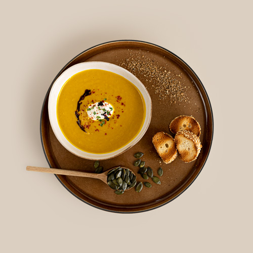 Kürbissuppe mit Kreuzkümmel