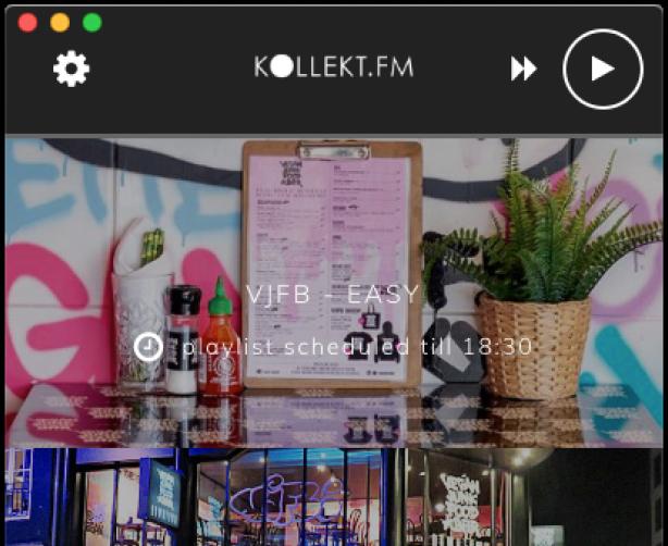 kollekt.fm desktop player