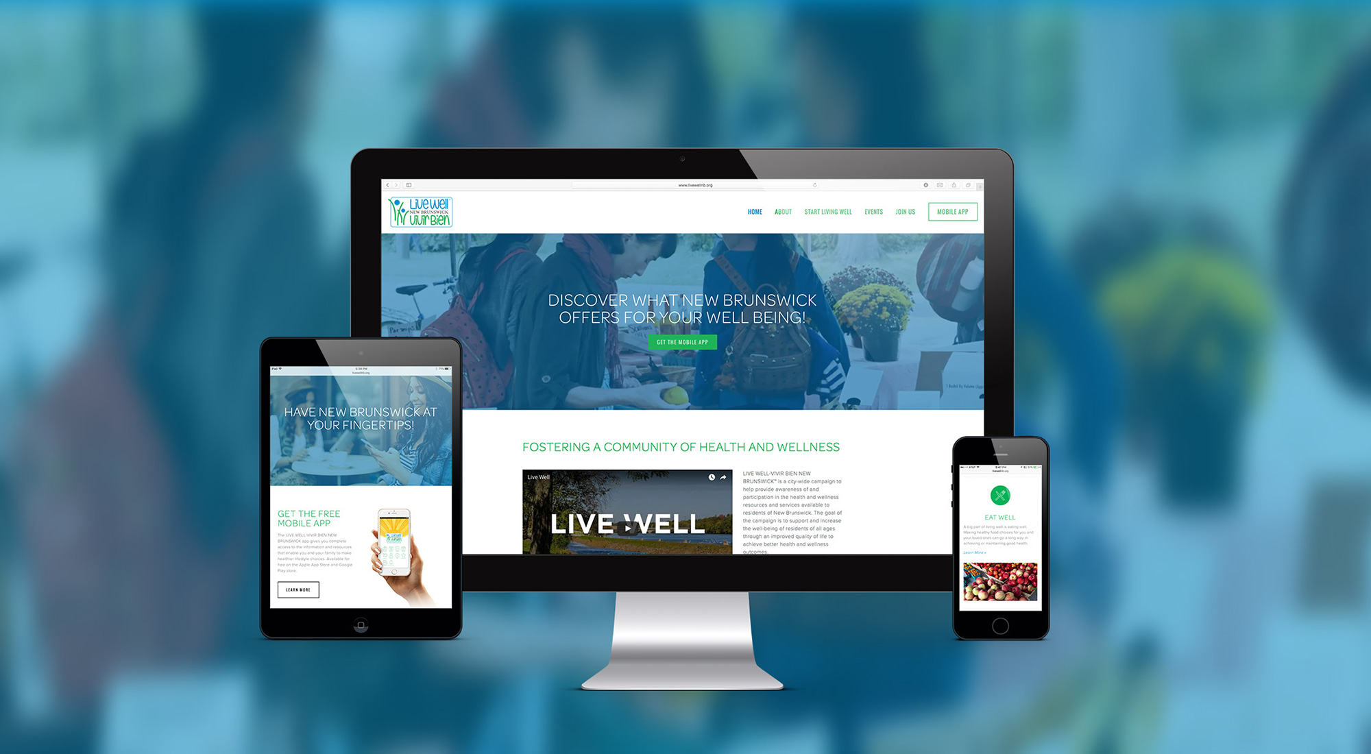 Live Well New Brunswick Website by 3rd Edge