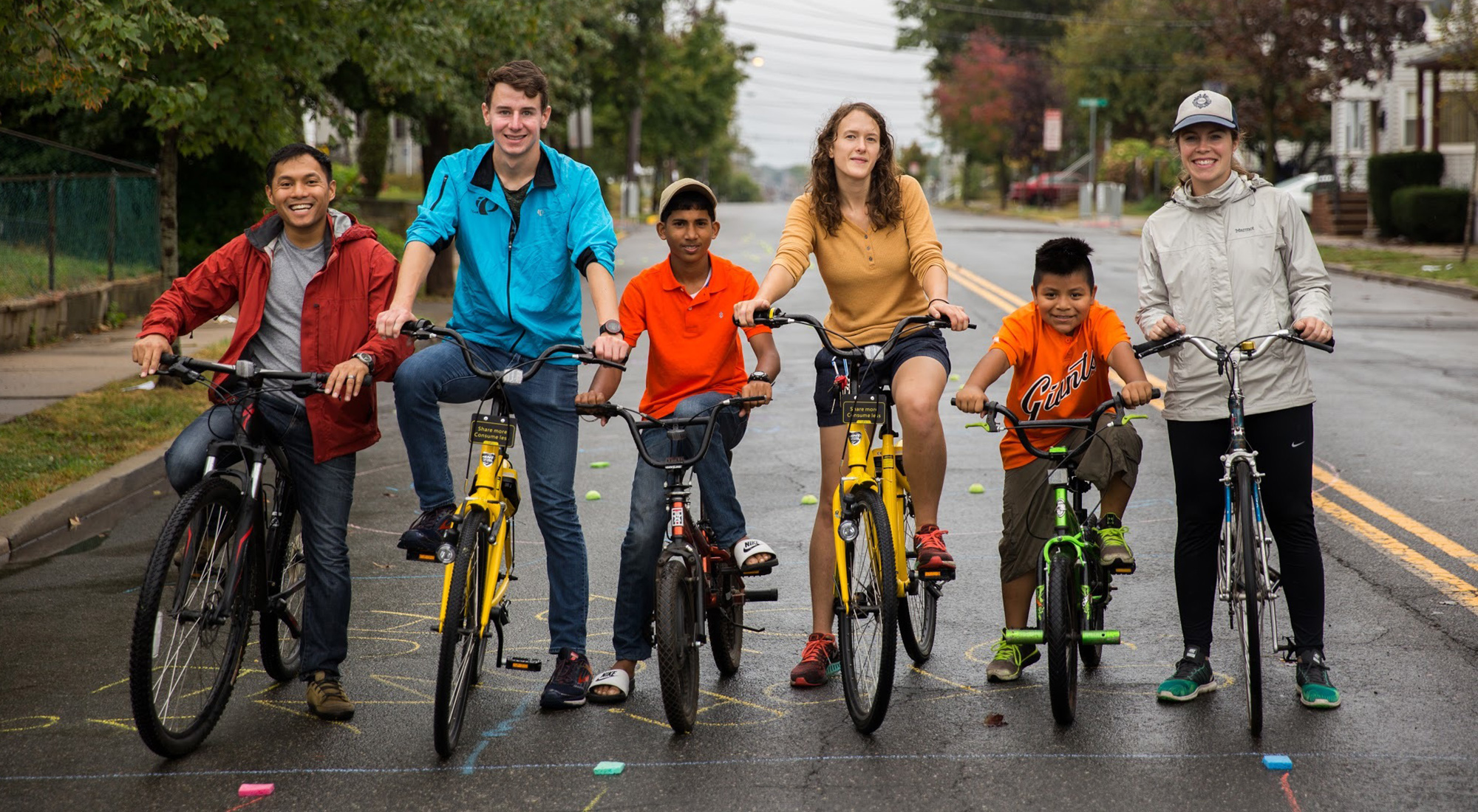New Brunswick Residents Participating in Ciclovia for Event Advertising by 3rd Edge