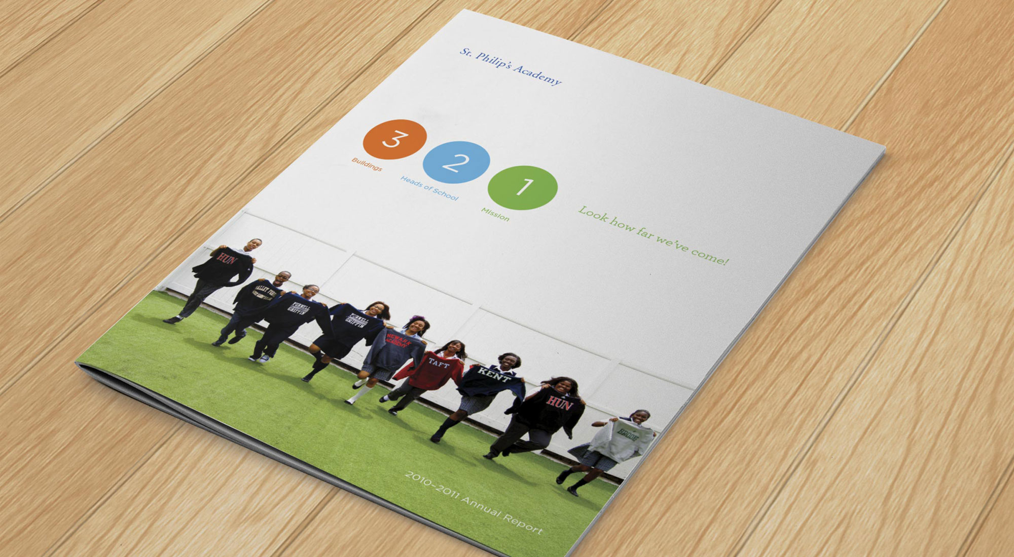 St. Philips Academy Annual Report Cover by 3rd Edge