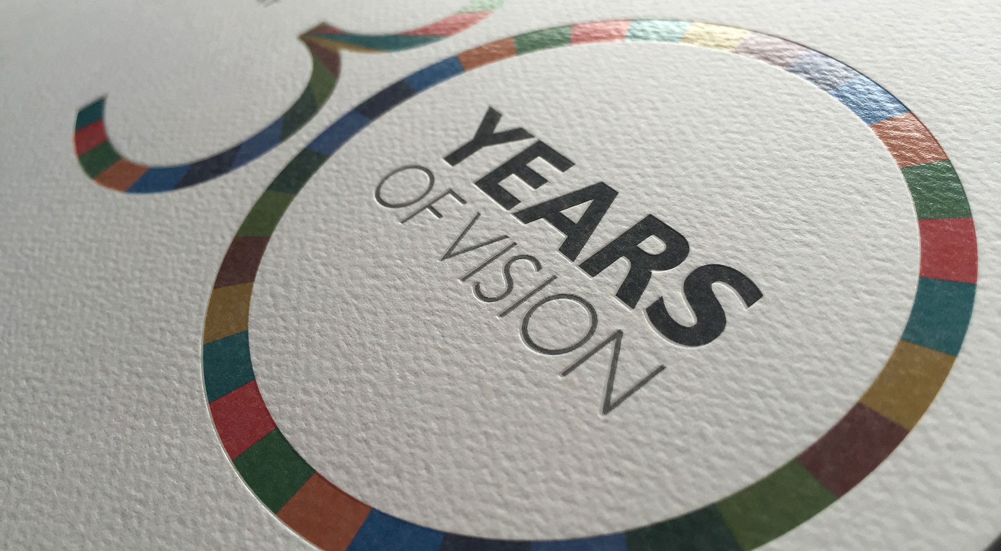 Orbis 30th Anniversary Annual Report Cover by 3rd Edge