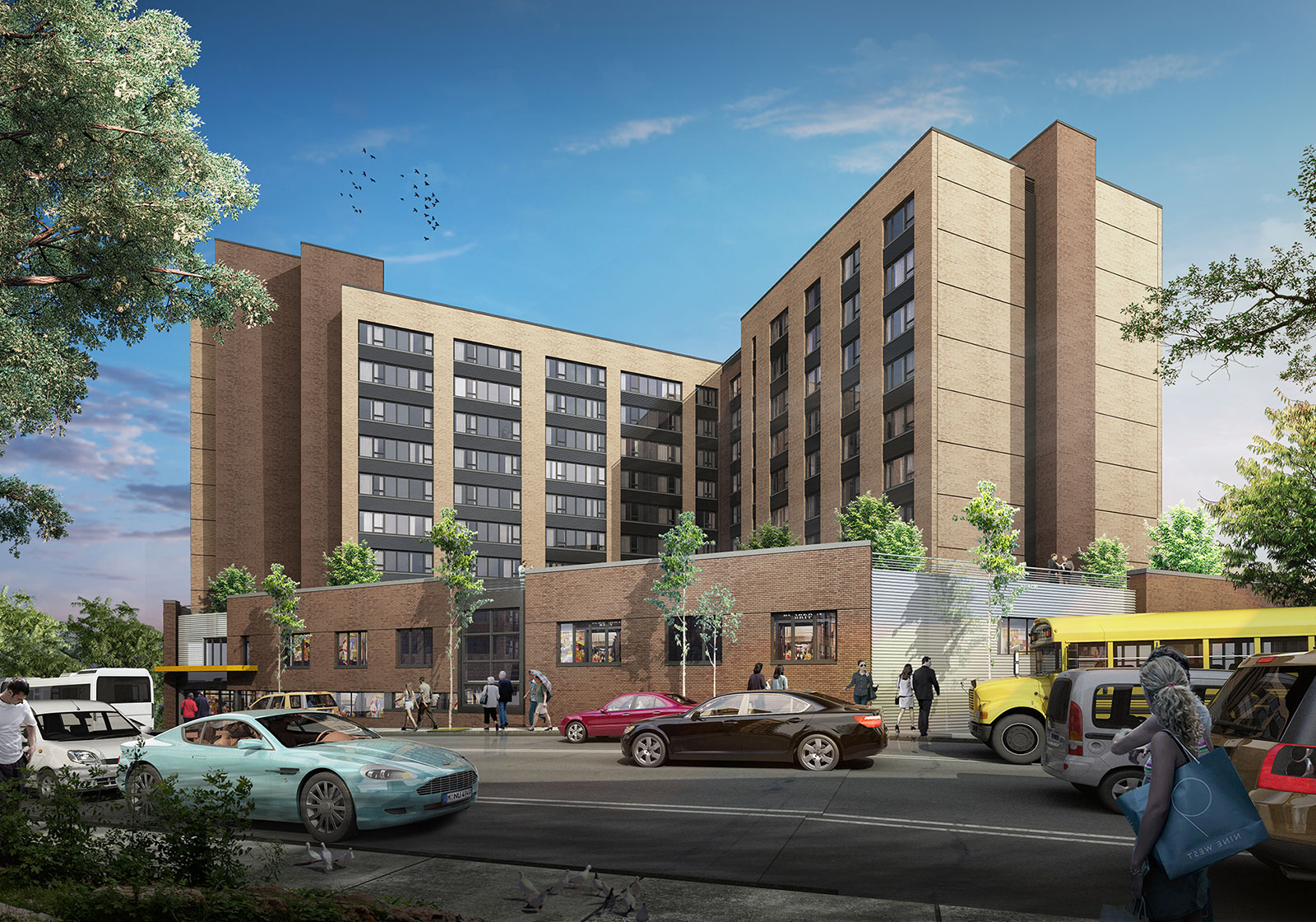 Affordable Housing Project Rendering on Website by 3rd Edge