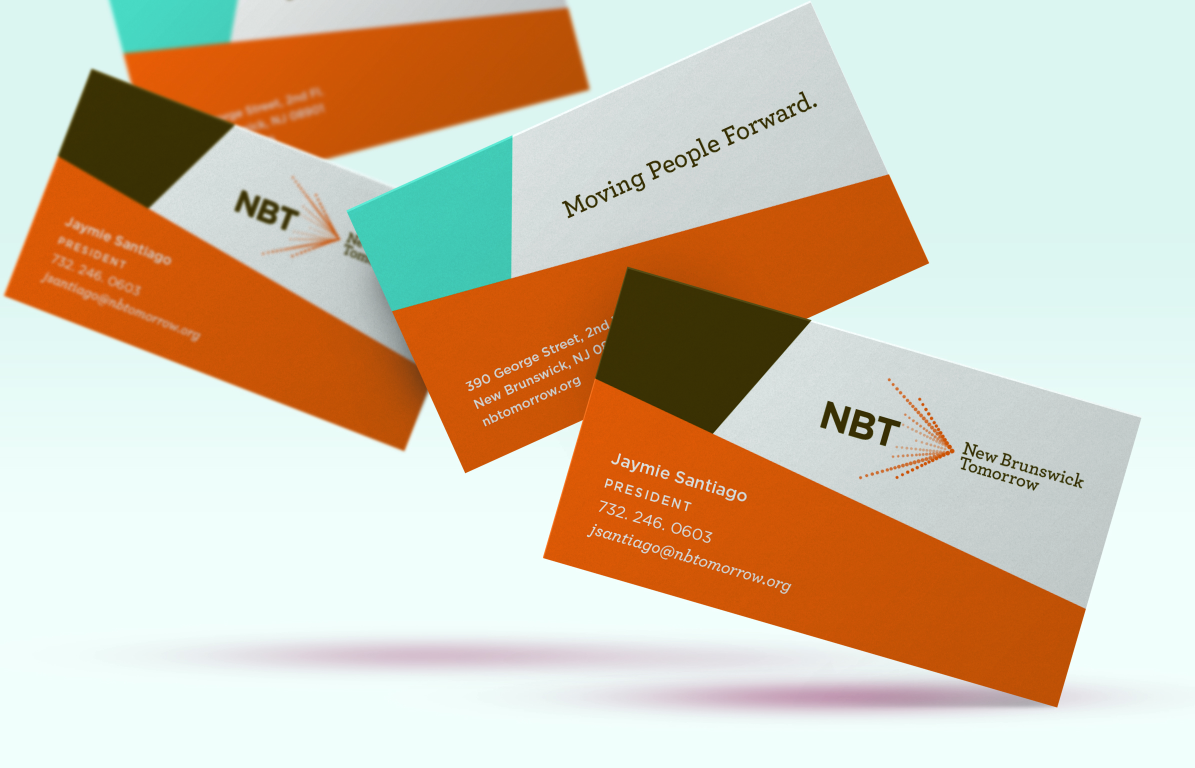 NBT business cards fanned out