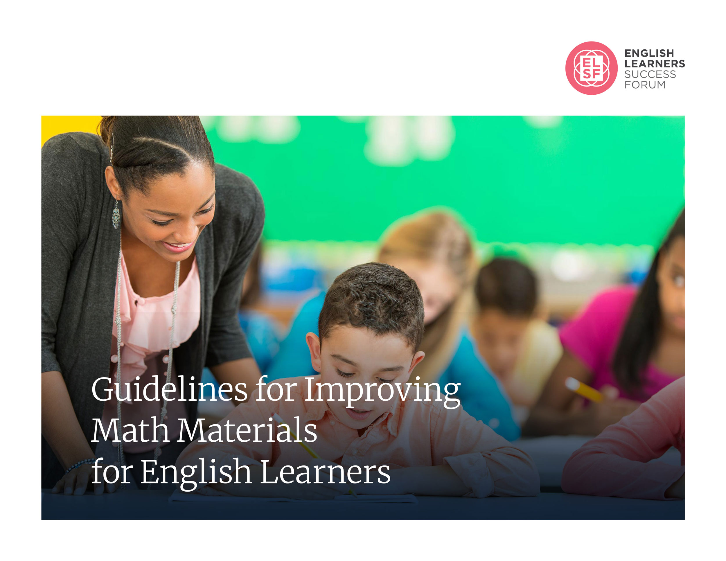 ELSF Math Guidelines cover page