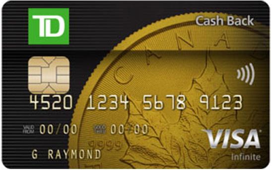 TD Cash Back Visa Infinite