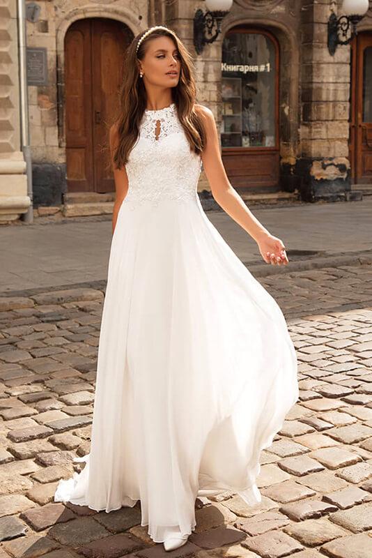 Robe de mariée épurée à Strasbourg