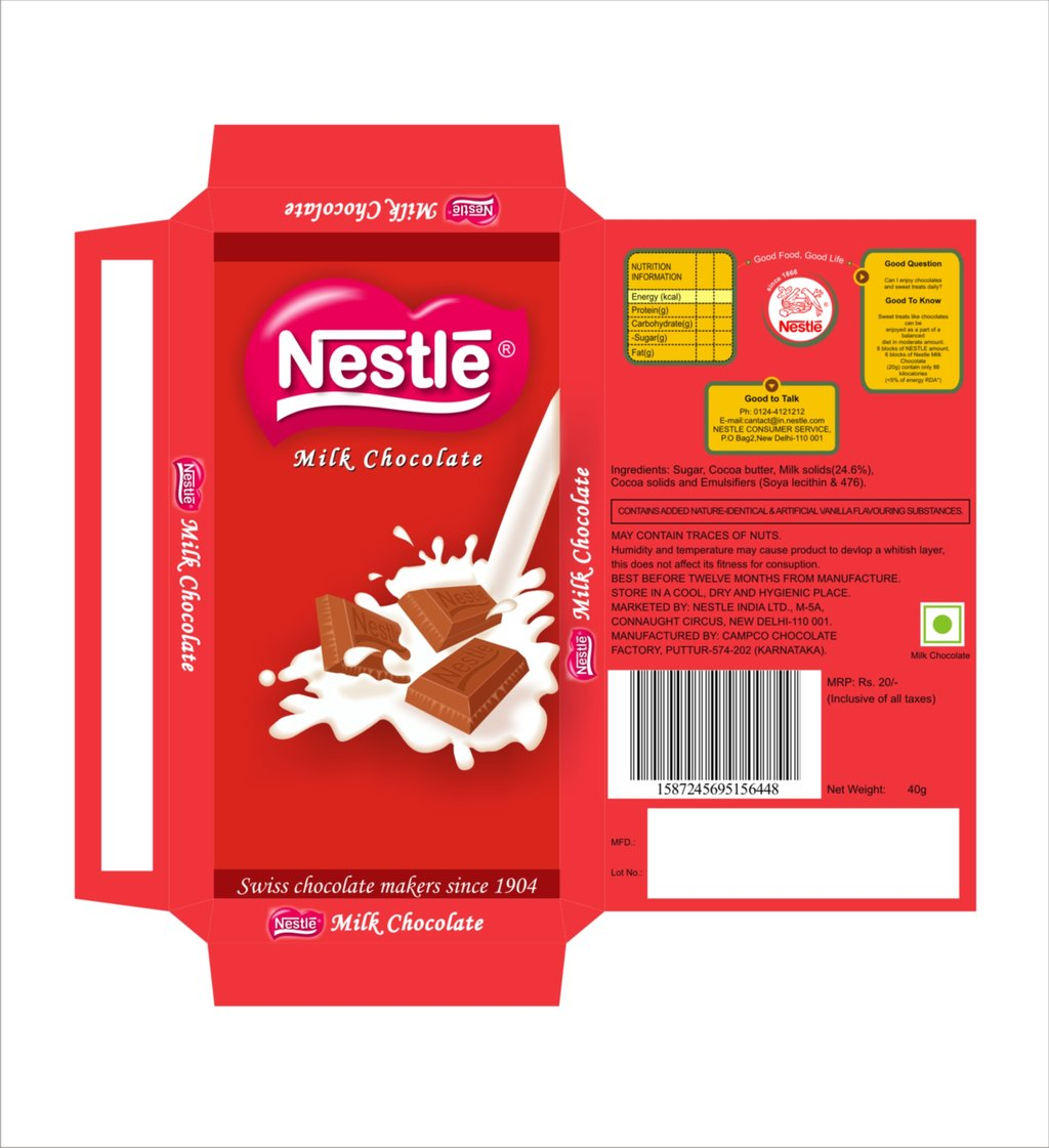 Nestle Chocolate Design For Packaging