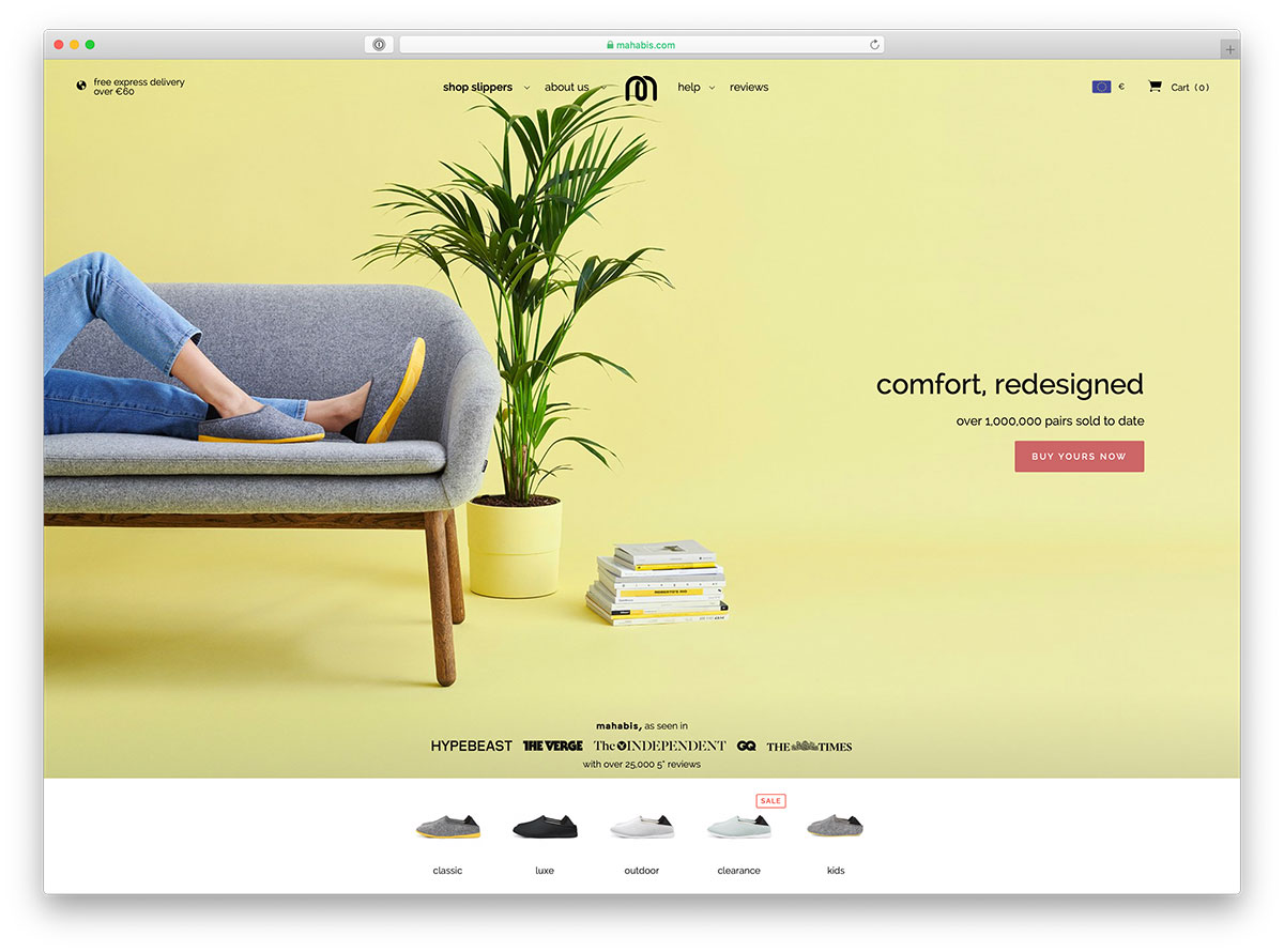 Ecommerce Landing Page for Shoes