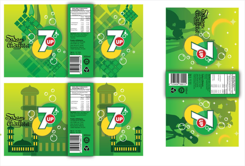 7up Festive Packaging