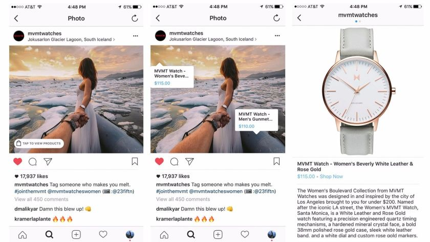 shopping on social media platforms which encourages customer engagements