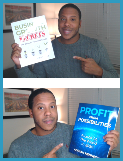 Xscape Publishing Founder Adrian Kennedy with the first two books he wrote