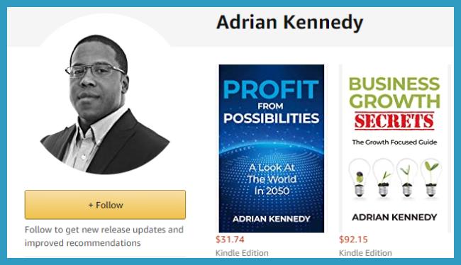 Xscape Publishing Founder Adrian Kennedy's Amazon Author Page Showcase
