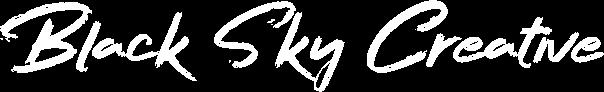 black sky creative signature