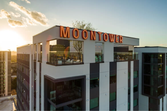 Aerial cinematography motion drone Moontower