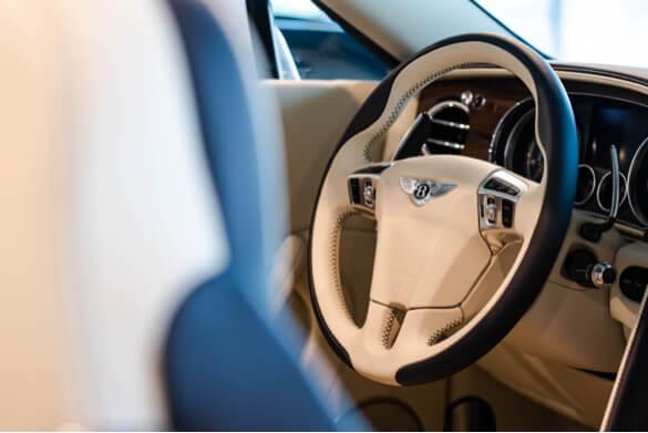 bentley car streering wheel