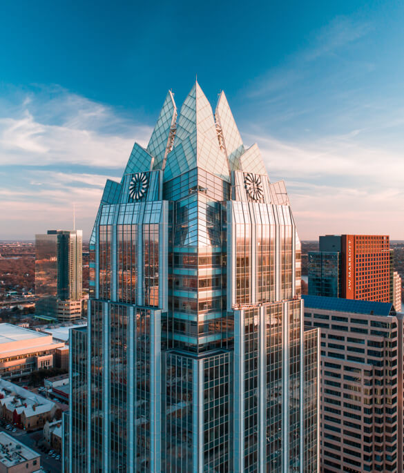 Frost tower photography drone aerial