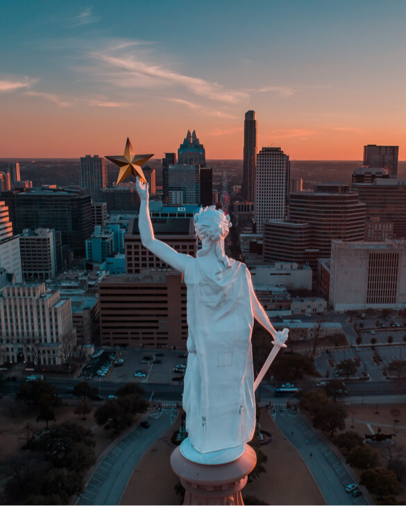 Lady liberty photography drone
