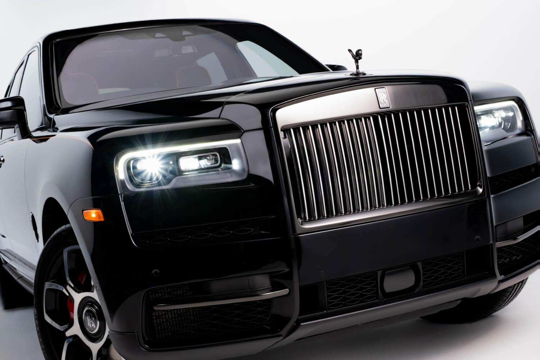 Black Rolls Royce photography production
