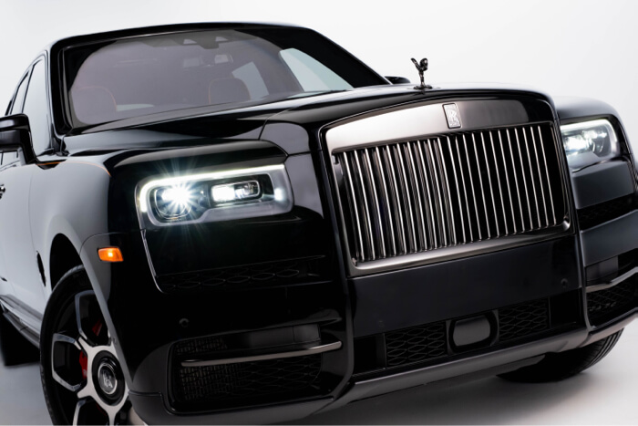 Rolls Royce Luxury car commercial production Black sky creative