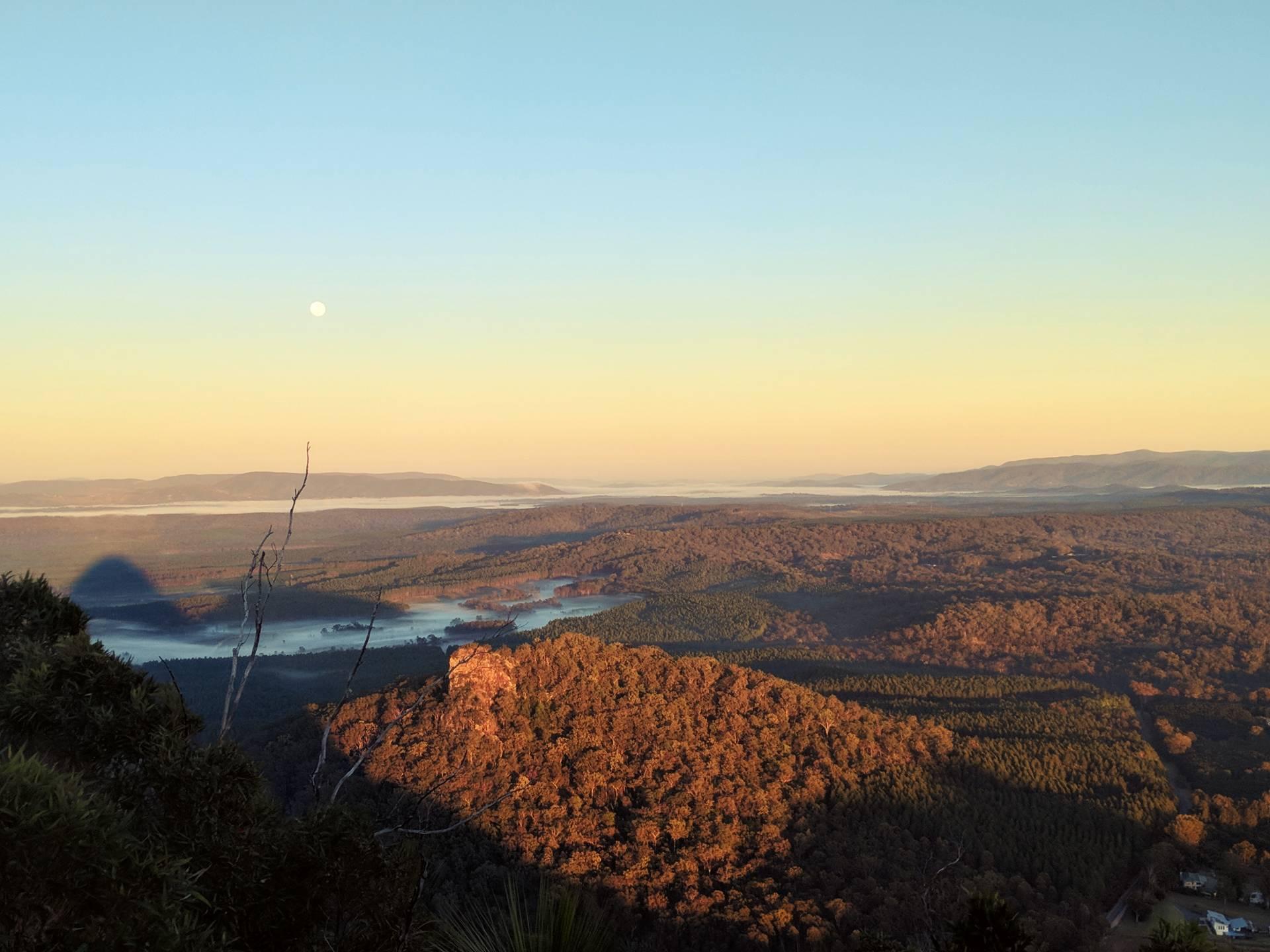mountain sunrise Beerwah, taken by myera