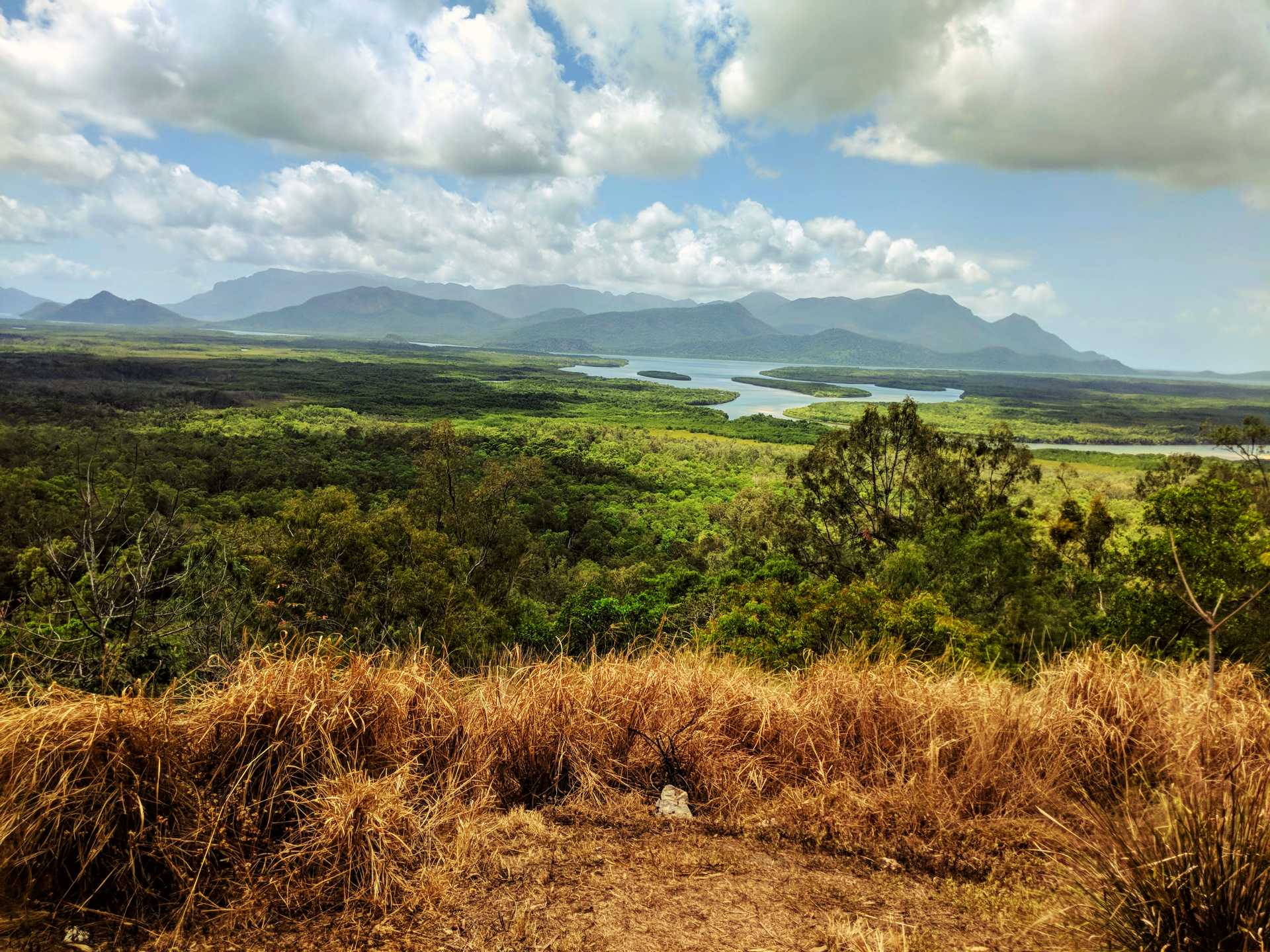 View from Lucinda - across Hinchinbrook Island