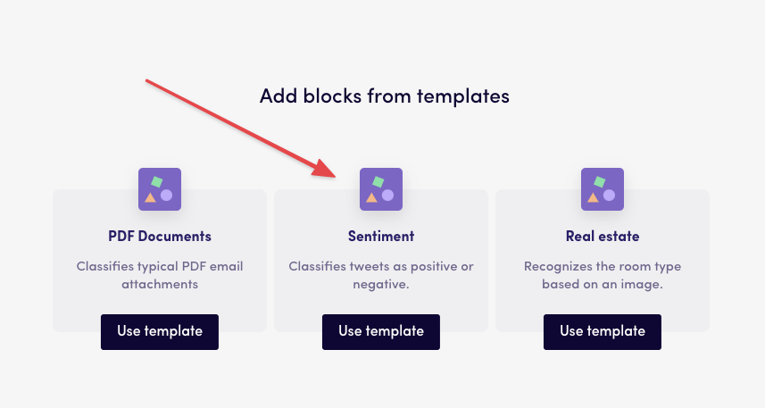 Using templates at Levity to get started