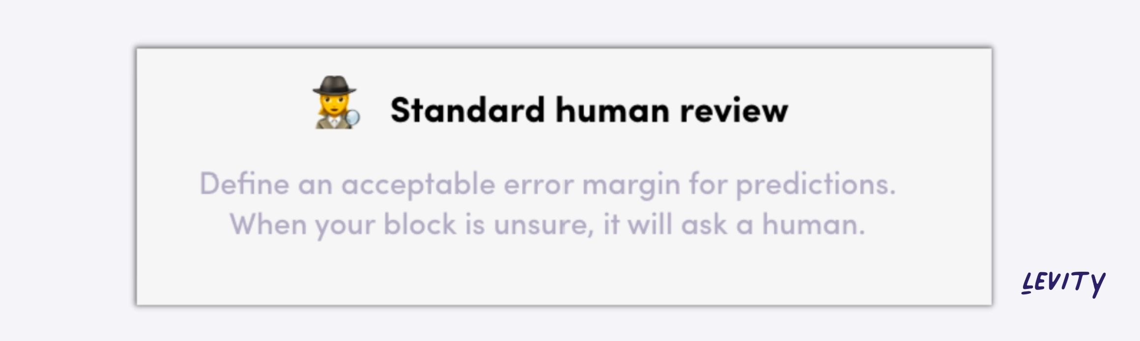 Define when an AI should ask for human review