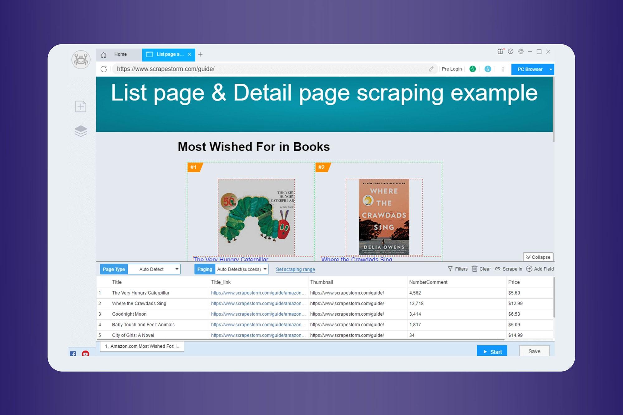 Scrapestorm for AI powered web scraping - product screenshot