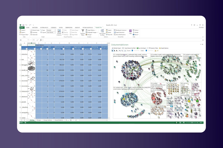 NodeXL Product screenshot - open source excel extraction tool