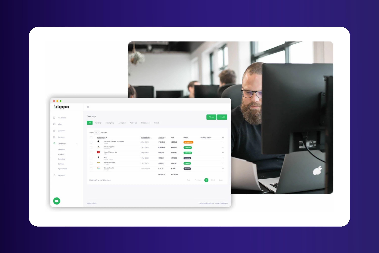 klippa product screenshot - cloud based document processing tool