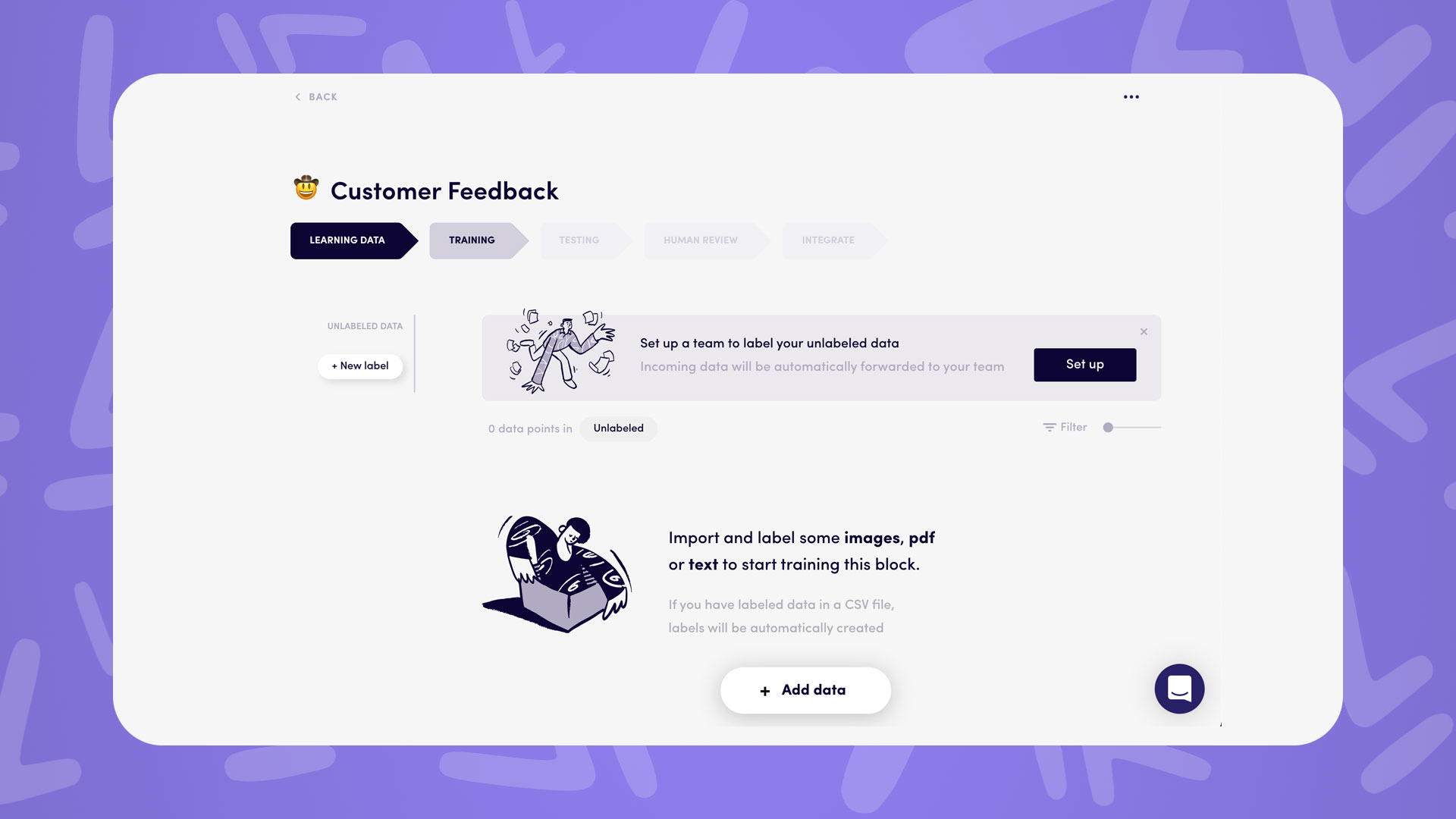 how to process customer feedback responses using AI